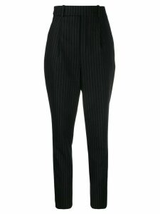 Saint Laurent pinstriped high waisted trousers - Black