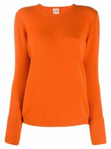 Nude slim-fit crew-neck jumper - ORANGE