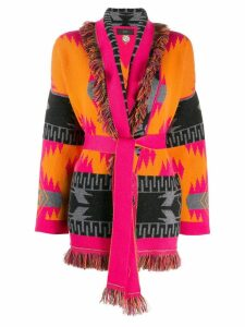 Alanui oversized fringed cardigan - Orange