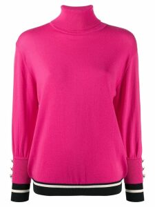 Elisabetta Franchi turtle neck sweater - Pink
