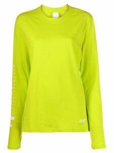 Reebok x Victoria Beckham printed jersey T-shirt - Yellow
