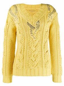 Ermanno Scervino cable knit jumper - Yellow