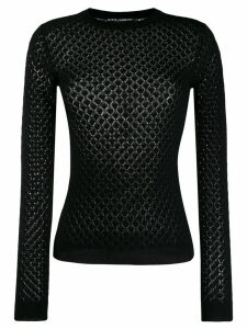 Dolce & Gabbana diamond knitted jumper - Black