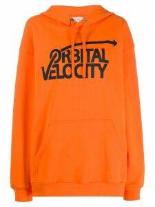 Calvin Klein Jeans Est. 1978 Orbital Velocity hoodie - ORANGE