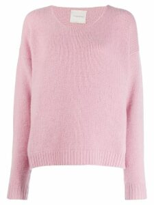 Fine Edge boyfriend crew neck sweater - PINK