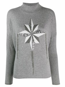 LIU JO wind rose intarsia jumper - Grey