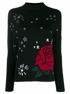 LIU JO star-studded jumper - Black