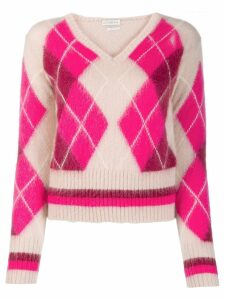 Ballantyne argyle knit jumper - PINK