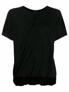 Ann Demeulemeester draped hem T-shirt - Black