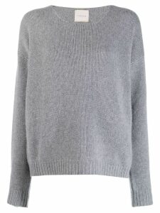 Fine Edge boyfriend crew neck sweater - Grey