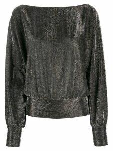 LIU JO metallic boat neck sweatshirt - SILVER