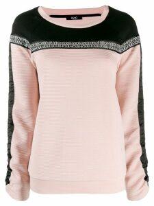 LIU JO logo band sweatshirt - Pink