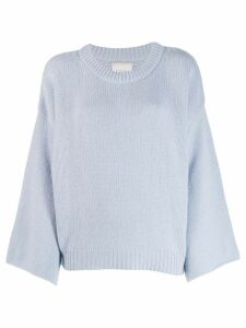 Fine Edge bell sleeve sweater - Blue