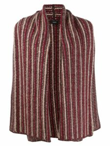 Theory oversized patterned cardigan - Brown