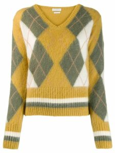 Ballantyne argyle knit jumper - Yellow