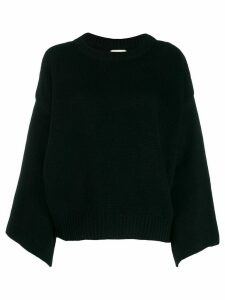 Fine Edge bell sleeve sweater - Black