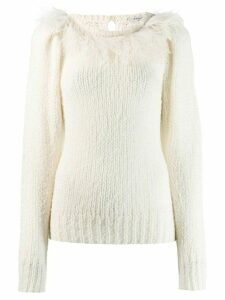 Philosophy Di Lorenzo Serafini feather trim sweater - White