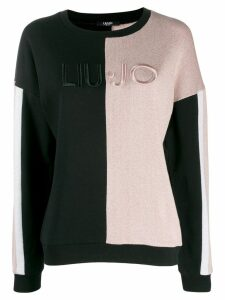 LIU JO colour-block jumper - PINK