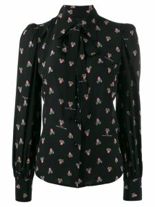Marc Jacobs floral long-sleeve blouse - Black