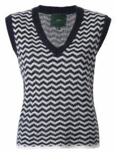 Jejia Julie chevron-knit vest - Blue