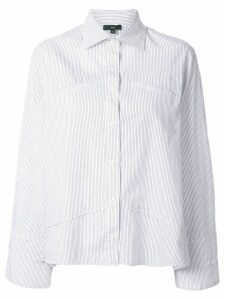 Jejia striped panel shirt - White