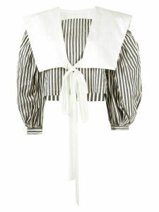 Vaquera 'Sailor' striped blouse - Black