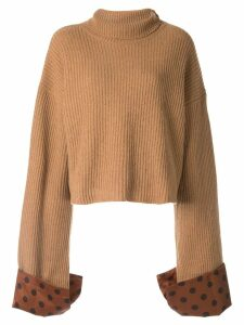 Jejia polka-dot trim jumper - Brown