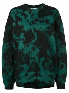 Proenza Schouler PSWL Ink Blotch Oversized Sweatshirt - Green