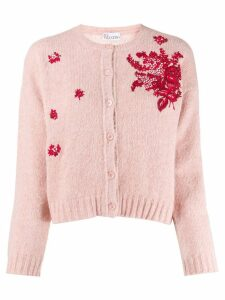 Red Valentino 'RED Valentino' floral embroidered cardigan - PINK