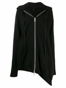 Unravel Project asymmetric drape hoodie - Black