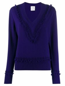Barrie ruffle trim jumper - Blue