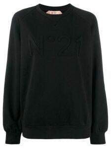 Nº21 tonal logo appliqué sweatshirt - Black