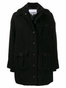 Ganni double-layer utility pocket coat - Black