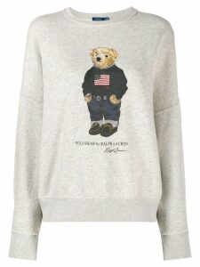Polo Ralph Lauren signature logo bear sweatshirt - Grey