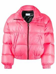 Chiara Ferragni neon puffer jacket - PINK