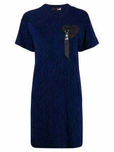 Love Moschino short-sleeve fitted dress - Blue