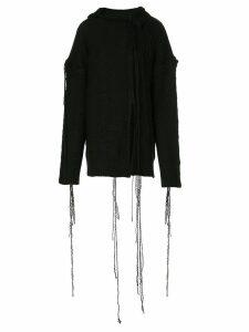 Yohji Yamamoto deconstructed knit jumper - Black