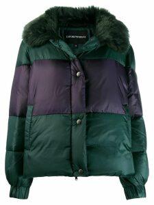 Emporio Armani panelled padded jacket - Green