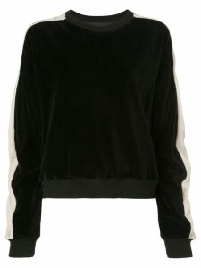 Haider Ackermann textured side stripe sweatshirt - Black