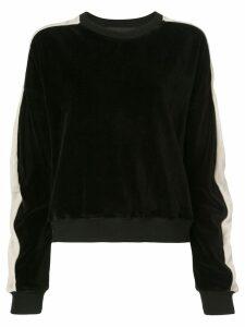 Haider Ackermann textured side stripe sweatshirt - Black