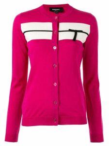 Rochas logo knitted cardigan - PINK