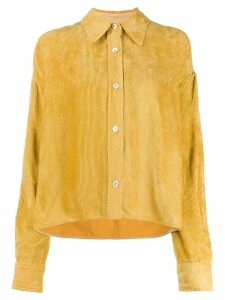 Isabel Marant cord boxy-fit shirt - Yellow