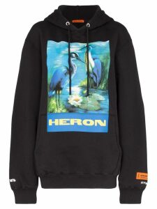 Heron Preston bird graphic hoodie - Black