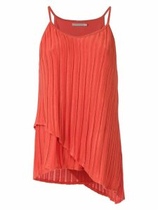 Alcaçuz Naomi ruffled tank top - ORANGE