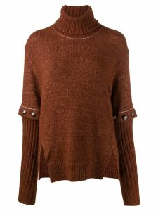 Chloé button detailed jumper - Brown