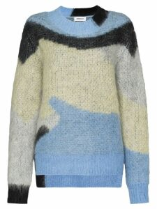 Ambush geometric pattern knitted sweater - Blue
