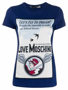 Love Moschino printed T-shirt - Blue