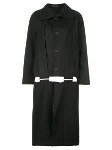 Yohji Yamamoto cut-out detail coat - Black