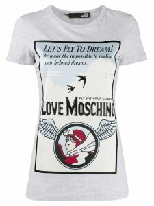 Love Moschino printed T-shirt - Grey