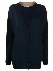 Stella McCartney V-neck contrasting collar cardigan - Blue